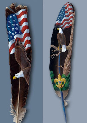 Eagle Pictures Paintings On Feathers
