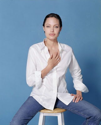Angelina Jolie Images In Whites And Blues