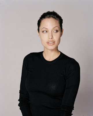 Hot Sexy Angelina Jolie In Black
