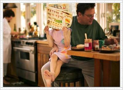 Funny Baby Photo Reading Comics