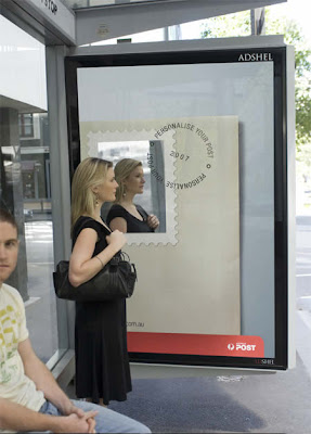 Australia Post Bus Stop Advertisement