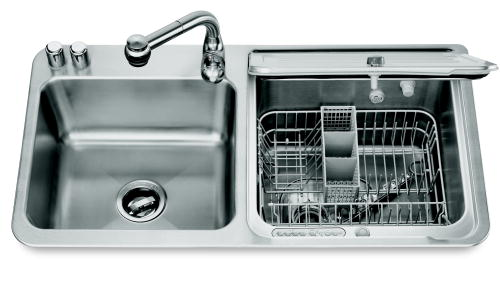 Dishwasher Sink : The KitchenAid stainless steel briva in-sink dishwasher offers the ...