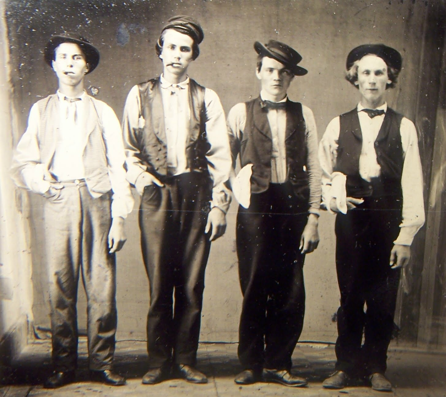 Left To Right Billy The Kid Doc Holliday Jesse James