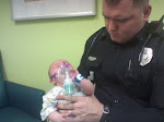 Daddy and Natalie in the ER before she was admitted to the PICU