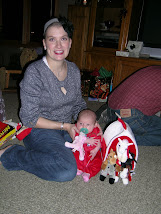 Rachel with her Christmas gift from the Jones girls
