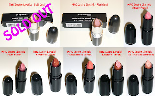 MAC Lustre Lipsticks (Click to enlarge the photo)