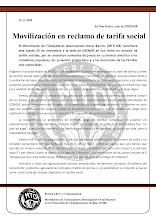 Movilización a EDENOR en reclamo de tarifas sociales