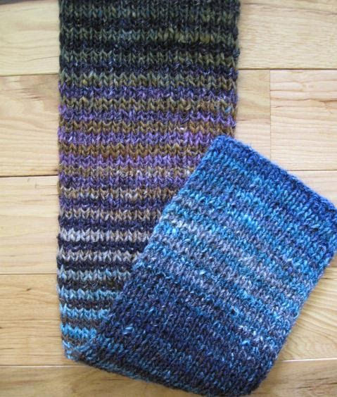 Knitting Pattern For Noro Wool : KNITTING AND WEAVING TIDBITS!: Noro Silk Garden Striped Scarf Free Pattern