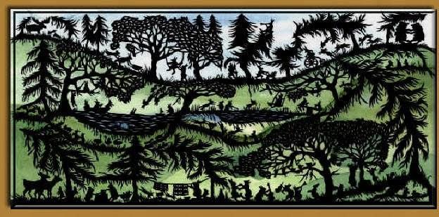Hopalong Hollow Gazette The Art Of Scherenschnitte