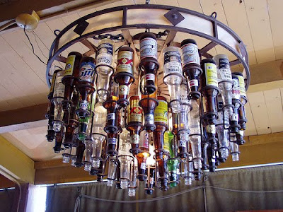 Beer Bottle Chandelier | Real Beer for the Holidays