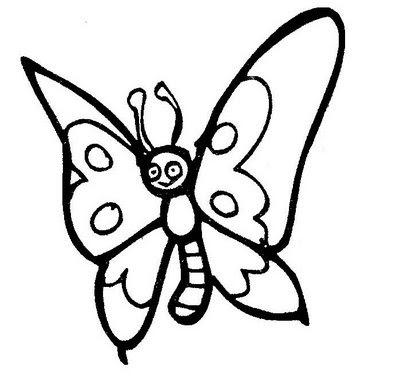 Desenho e risco de borboletas para imprimir, colorir ou usar em