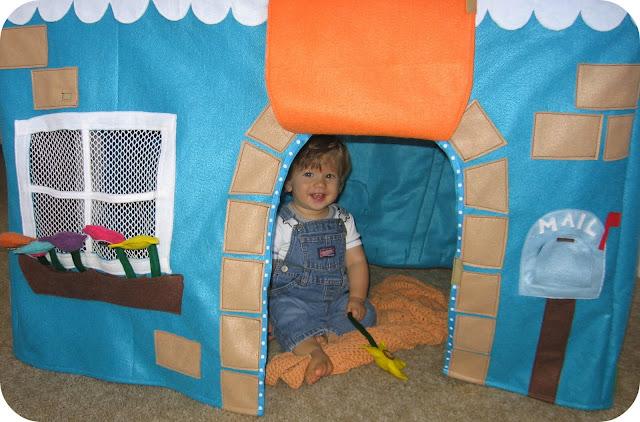 Как сделать игрушечную палатку своими руками 14