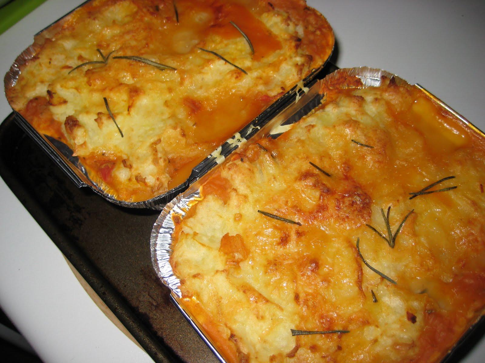 Vegetarian Shepherd's Pie (adapted from Jamie Oliver)