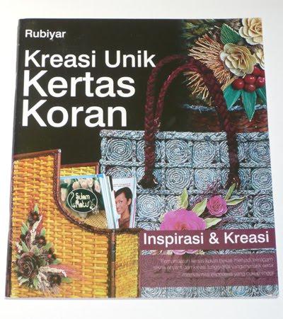 buku kreasi unik kertas koran pengarang rubiyar penerbit trubus