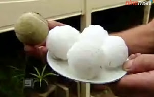 Tennis ball sized hail