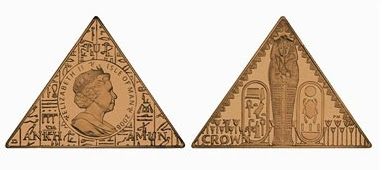 Pyramid-shaped coin