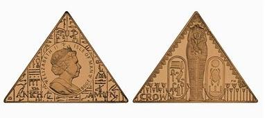 Pyramid-shaped coin