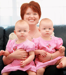 Michelle Stepney with her two daughters