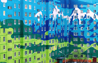Art on residential buildings