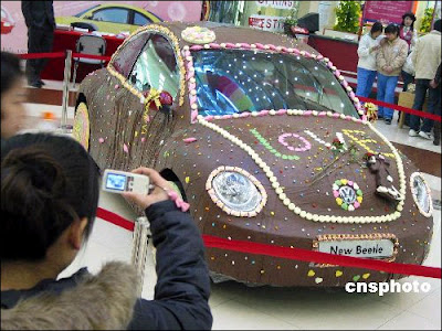 Chocolate-coated car