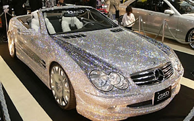 Diamond-covered Mercedes Benz SL550