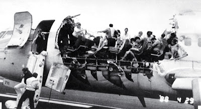 A large section of this Boeing 737's fuselage blew off during a 1988 accident