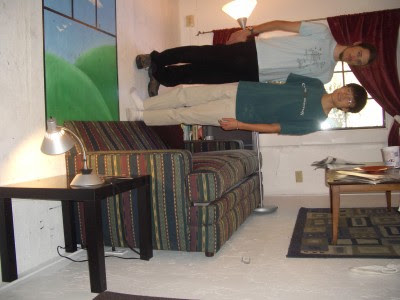 Sideways room illusion