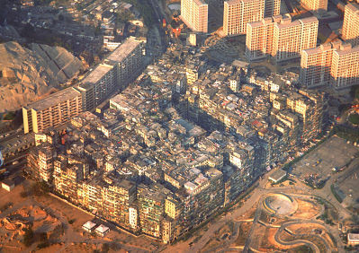 Kowloon walled city in Hong Kong