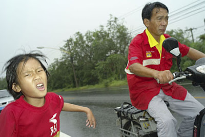 Zhang Huimin and her father