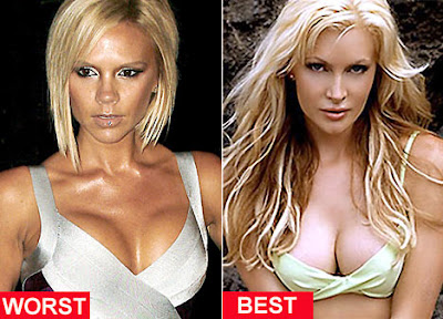 Caprice Bourret and Victoria Beckham