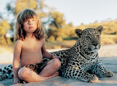 Tippy with a leopard