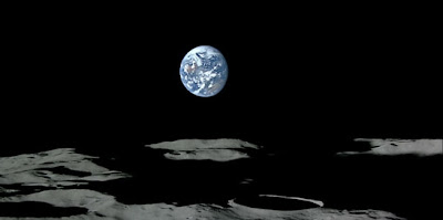 Earth-rise from lunar orbit