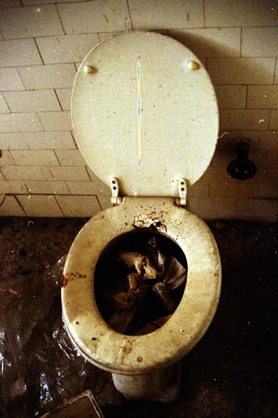 commode with filth in it