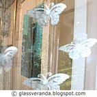 Prosjekt Sommerfugl-gardin, før - etter bilder