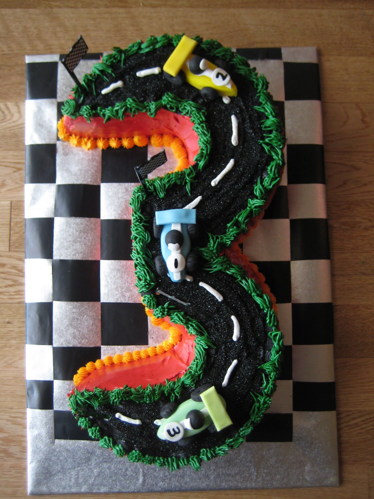 3rd Birthday Cake For A Hot Wheels Fan Sweet Celebrations