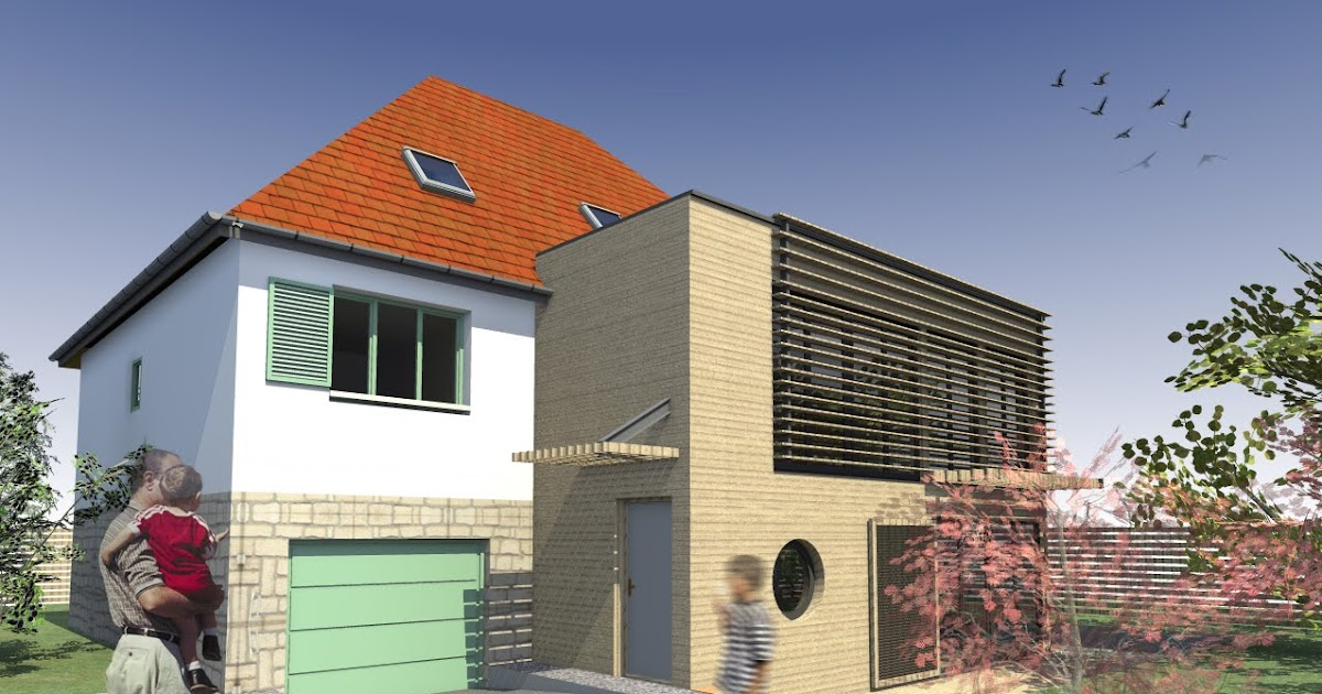 Architecte maison bois paris alsace extension bois maison for Extension maison alsace