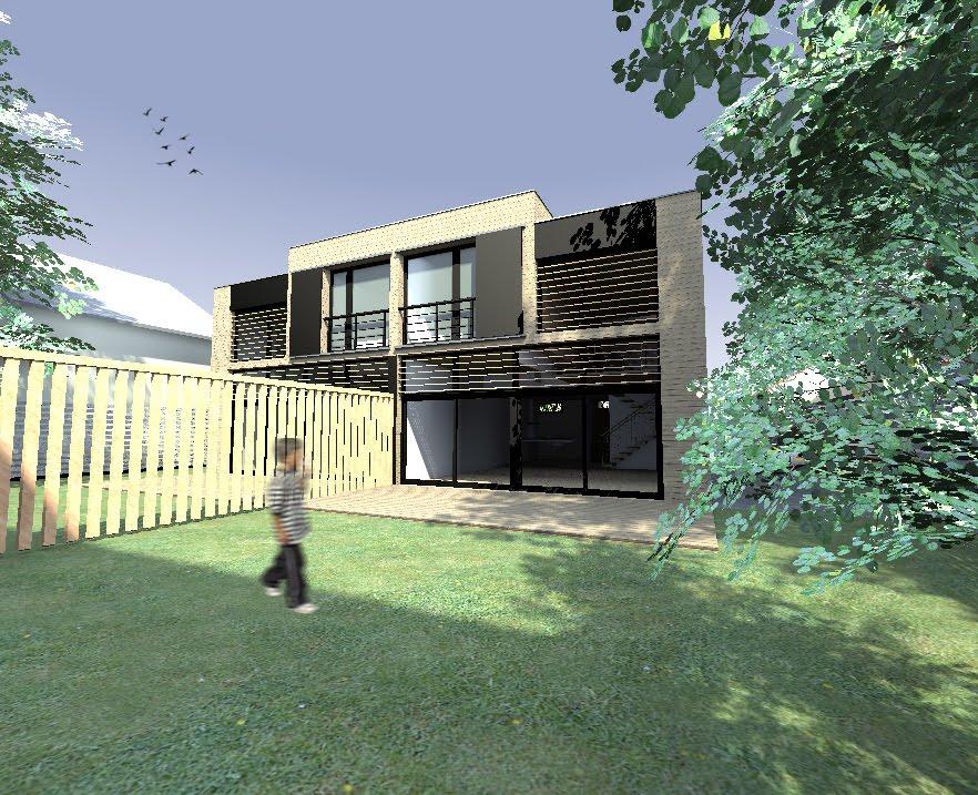 Maison ossature bois cachan architecte maison bois for Architecte maison bois