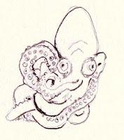 Octopus with twisted tentacles. Late 20th century.