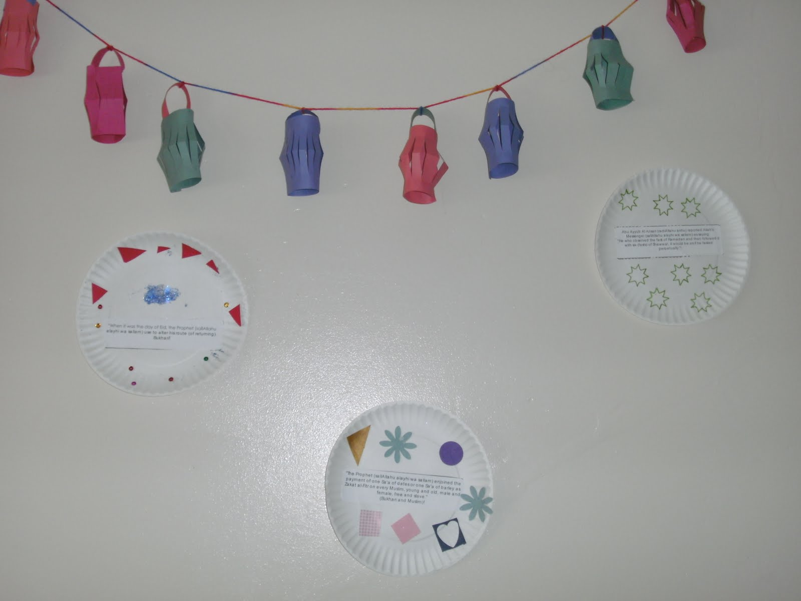Crafts ideas about ramadan - And A Happy Eid Banner To Go On Our Door Outside For All To See