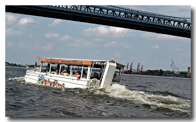 DUKW Under Ben Franklin Bridge