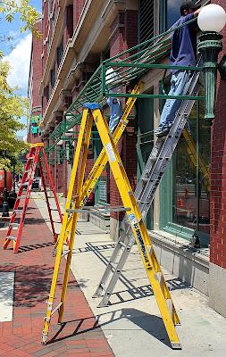 Ladders - Market Street, Baltimore