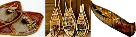 raquetas de nieve canoas