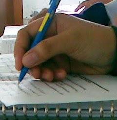 ...tajamkan penamu...