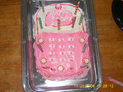 My Twelve Year Old Daughters Cell Phone Cake