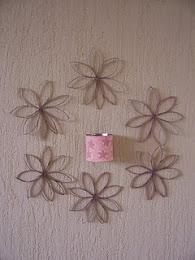 Flores de rolo de papel higiênico