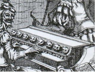 Кошачье пианино - гравюра из старой книги