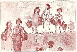 அகதிகள்-அனாமிகாவின்  ஓவியம்