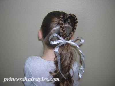 braided heart hairstyle