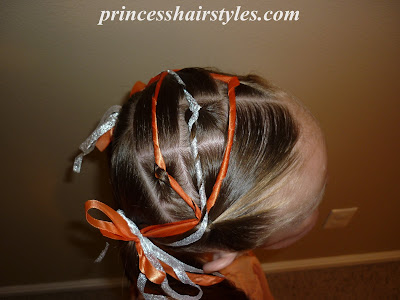 hair style using ribbons