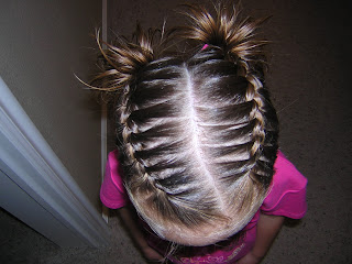 french braid pigtails picture